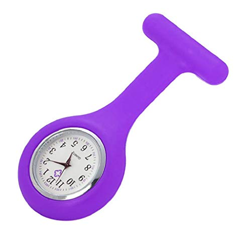 VJGOAL Damen Uhren, Frauen Elegant Mehrfarbig Classic Krankenschwester Robe Silikon Brosche Quarzuhr (Elektronische Krankenschwester)