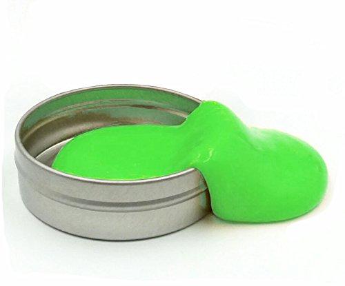 Intelligente Hüpfknete Springknete Nachtleuchtende Knete für Kinder und Erwachsene(grün)