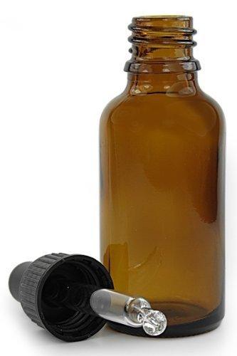 50ml Bernstein Browm Glas Aromatherapie Flasche mit Glas Pipette Kappe. Braun Glasflasche geeignet für Aromatherapie, Kunst, Basteln, Erste Hilfe, Augentropfen, Ohrentropfen usw.