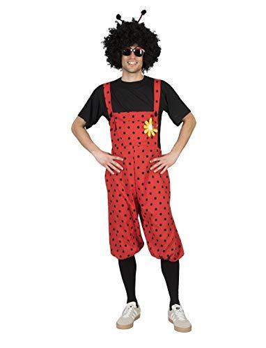 Luxuspiraten - Herren Männer Damen Kostüm Kurze Latzhose im Maikäfer Marienkäfer Stil, Bib Overall Bug, perfekt für Karneval, Fasching und Fastnacht, One Size, Rot (Pet Marienkäfer Kostüm)