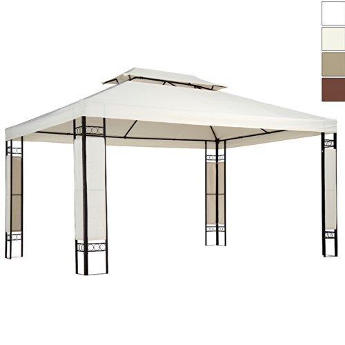 Miadomodo gazebo giardino per esterno parasole 3 x 4 m colore a scelta (beige)