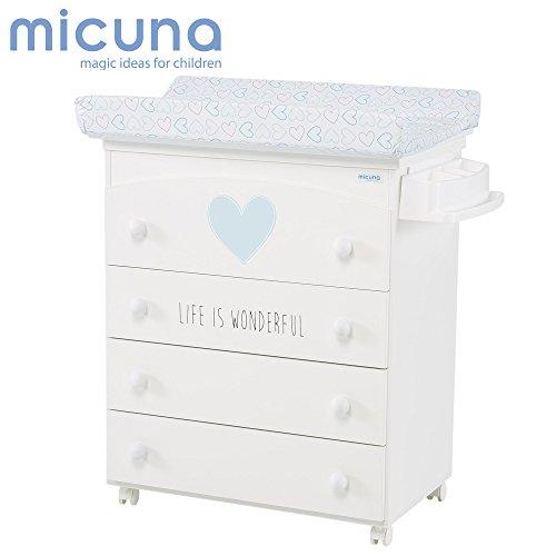 Micuna Wonderful - Cambiador bañera, unisex, color blanco y azul
