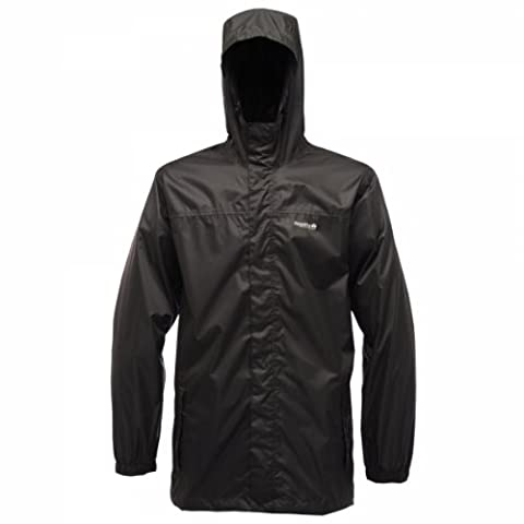 Regatta Pack-It Regenjacke für Herren, Schwarz (Black), Gr. Large