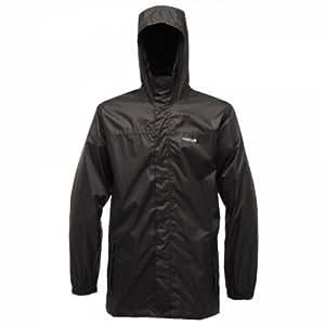 Regatta Great Outdoors Mens Outdoor Classics Pack It Hooded Waterproof Jacket (XS) (Black)