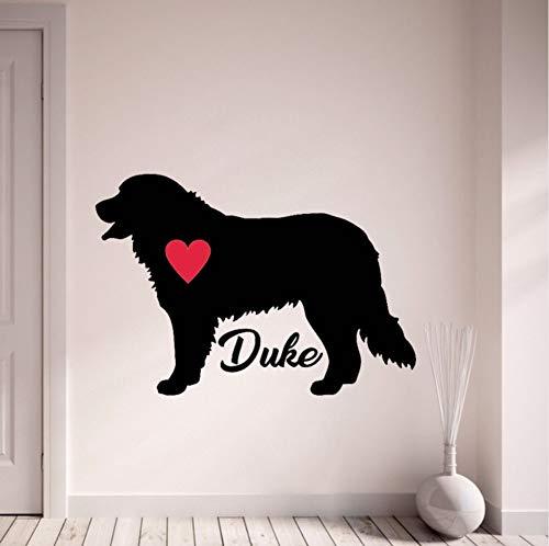 Wuyyii 42X61 Cm Bernese Mountain Custom Dog Name Wandaufkleber Personalisieren Hund Wandtattoos Pet Silhouette Wohnkultur Kunstwand -