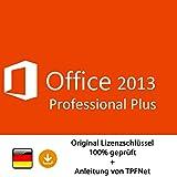 Microsoft® Office 2013 Professional 32 bit & 64 bit Vollversion Original Lizenzschlüssel per E-Mail und Post + Anleitung von TPFNet - Versand maximal 60Min