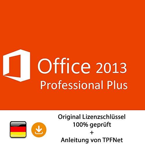 MS Office 2013 Professional 32 bit & 64 bit Vollversion Original Lizenzschlüssel per Post und E-Mail + Anleitung von TPFNet® - Versand maximal 60Min (Office 2013 Key)