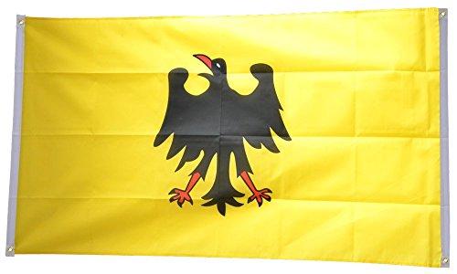 Flaggenfritze® Balkonflagge Heiliges Römisches Reich Deutscher Nation vor 1400 - 90 x 150 cm