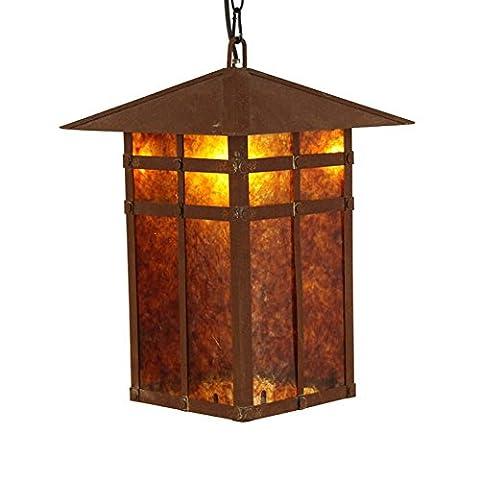 OOFWY E14 Eisen-Glimmer-Haus-Form-hängende helle Decken-Lampe industrielle Retro- Land-Weinlese-Art-Gaststätte-Gaststätte-Stab-Café-Beleuchtung-Kronleuchter