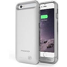 """MoKo iPhone 6 Plus Batería Cargador Funda - 4000mAh Protector External iPhone 6 Plus Batería Cargador Funda con Extraíble / Recargable Power Cubrir para iPhone 6 Plus 5.5 """", Ajuste con cuaquiela Verciones de Apple iPhone 6 Plus (a.k.a iPhone 6 Plus Batería Pack / iPhone 6 Plus Power Funda / iPhone 6 Plus Batería Cargador), PLATA (NO Va a caber el iPhone 6 4.7 """")"""