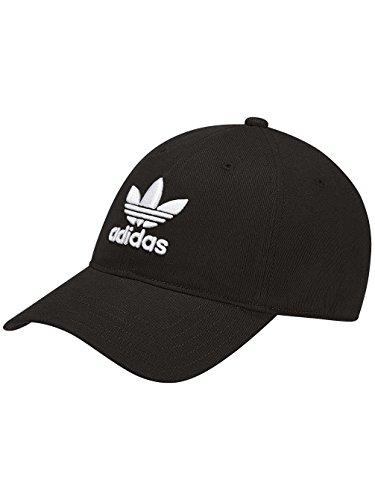 Adidas, cappellino da uomo trefoil classic, colore: nero, taglia unica