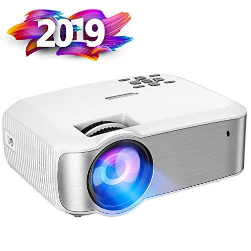 Proiettore Portatile, VicTsing Mini Proiettore Video a LED Supporto 1080P HD, per PC Smartphone TV, Bianco