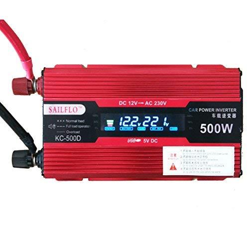 UKC 500W USB-Auto-Inverter DC 12V zu Wechselstrom 220V direkt zur Auto-Batterie