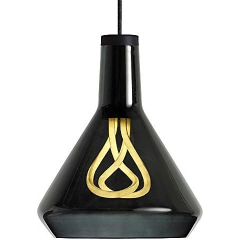 Plumen 1009012101 29,3 x 25 cm E27 11 W Drop juego de patrones de costura para camisetas para lámpara, cristal negro