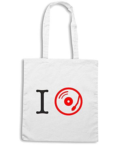 T-Shirtshock - Borsa Shopping T0097 i love music Bianco