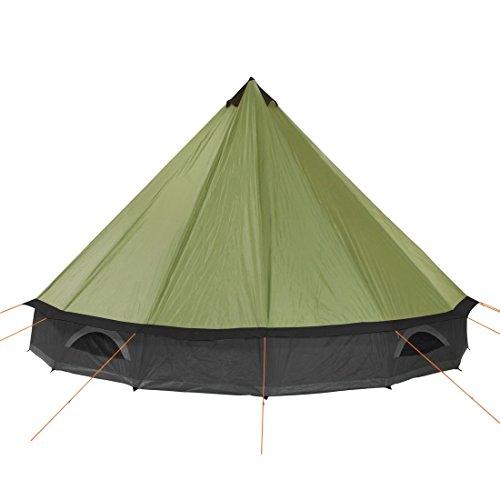 10T Mojave 400 Beechnut - Tipi Zelt mit XXL Wohn- & Schlafbereich, Campingzelt für 4-8 Personen, Indianer Outdoorzelt mit Bodenwanne, wasserdichtes Pyramidenzelt mit 5000mm, Familienzelt mit Transporttasche, Zeltheringen, Abspannleinen und Zeltgestänge - 4