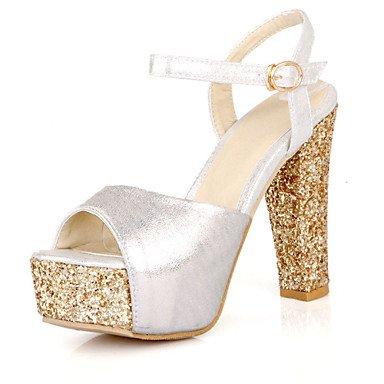 LvYuan Sandalen-Büro Kleid Party & Festivität-PU-Blockabsatz-Club-Schuhe-Rot Silber Gold Red