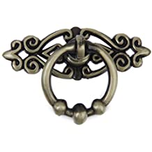 Hardware de manija de muebles - SODIAL(R) Hardware de empunadura de anillo de muebles de estilo retro de vendimia de China, bronce antiguo