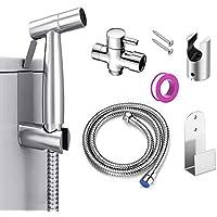 lavage de voiture Aokilom Kit de pulv/érisateur de bidet en acier inoxydable avec tuyau de 1,2 m et support pour hygi/ène personnelle toilettes bain danimaux fleur deau