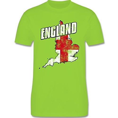 EM 2016 - Frankreich - England Umriss Vintage - Herren Premium T-Shirt Hellgrün