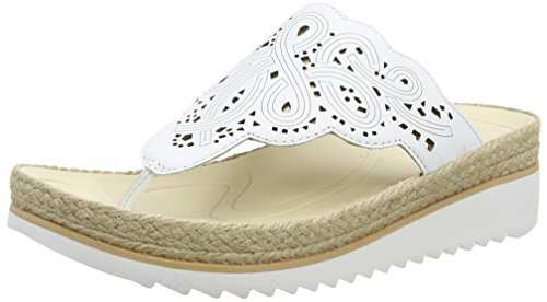 Gabor Spizzy, Damen Durchgängies Plateau Sandalen, Weiß - White (White Leather) - Größe: 40 EU (Wasser Post Jane)
