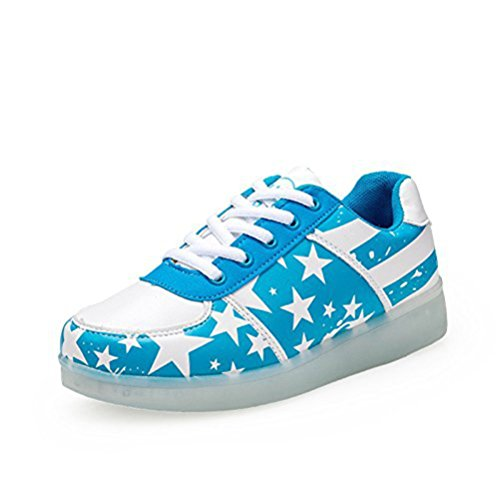 kleines Top Turnschuhe Farbwechsel Schuhe Damen Unisex present Licht junglest® 7 Farben Hohe Blitzen Handtuch Li Led High Blau X1dwqB4x