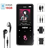 MP3 Player Bluetooth 4.2 16GB Digitaler HiFi Musik Player Audioplayer mit Kopfhörer Sport Armband 2,4 Zoll Touch Taste Farbbi