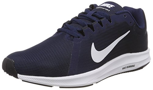 NIKE Damen WMNS Downshifter 8 Laufschuhe, Blau (Midnight Navy/White/Dark Obsidian/Black 402), 38 EU