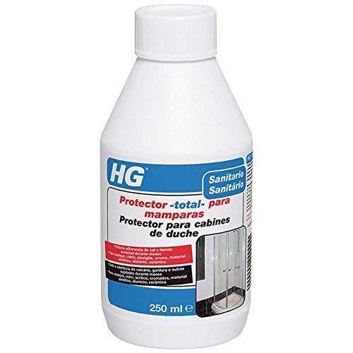 HG 476030130 Total-para mamparas 250ml-un Potente Protector Que Limpia los Cristales y Todo...