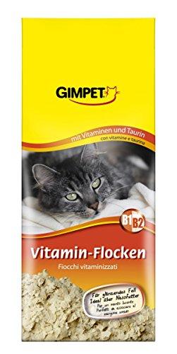 GimCat Vitamin-Flocken | mit Biotin, Taurin und Vitamin B1 und B2 beugen Mangelerscheinungen vor | ohne Zuckerzusatz | 1 Packung (1 x 200 g)