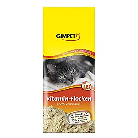 GIMPET Vitamin-Flocken – Futtertopping mit Taurin und Vitaminen beugt Mangelerscheinungen bei Katzen vor – 1 Packung (1…