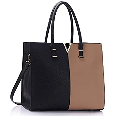 Womens Fashion Tote Shoulder Bags Ladies Large Designer Faux Leather New Handbag