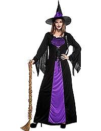 Focus Beauty Vestido De Mascarada De Halloween De Bruja Púrpura Cosplay Etapa Rendimiento