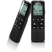 Digital Voice Recorder 8GB di memoria, MP3 Player con Digital Display LCD doppio sistema di alimentazione, registratore portatile ricaricabile