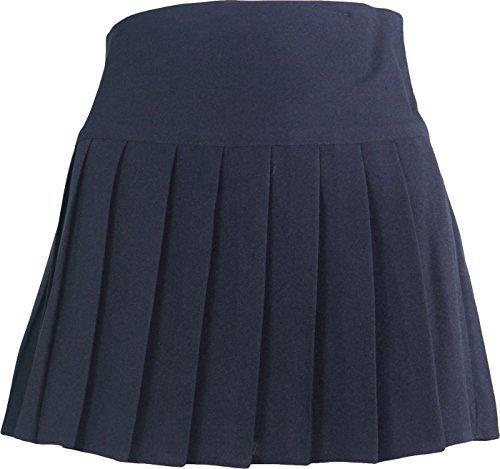 Schuluniform Hohe Taille Mädchen Rock nur einheitliche UK - Marine, (Marine Für Uniform Kinder)