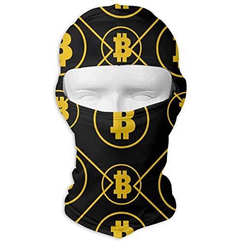 Wfispiy Gold Bitcoin lustige Diamant Muster Sturmhaube UV-Schutz Ski Gesichtsmasken für Radfahren Outdoor Sports Full Face Mask - Pony Plaid Hut