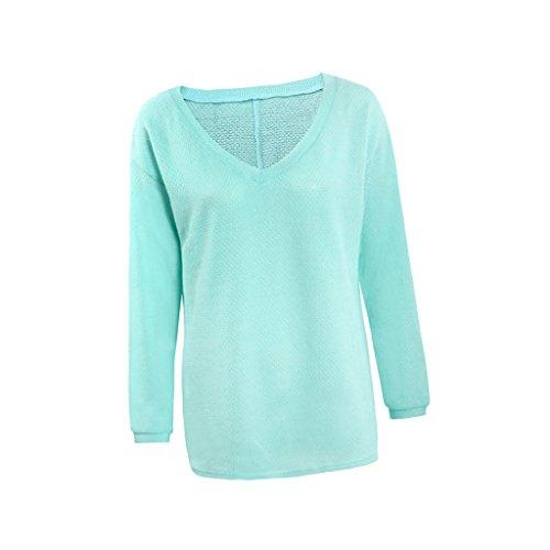 d56b01a243fd Damen T-Shirt Langarm V-Ausschnitt Sweatshirt Fledermaus Reißverschluss  Ärmel Pullover Bluse Tops Blusenshirt