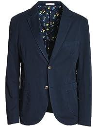 Sun 68 Herren JK12207 Blau Baumwolle Blazer
