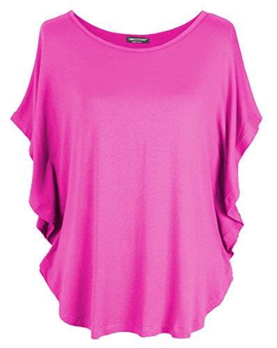 Emma & Giovanni T-Shirt/Oberteile Kurzarm - Damen (Fuchsie, XL/XXL)