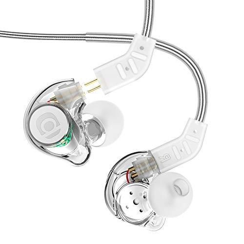 In Ear Kopfhörer, Adorer IM8 High Fidelity Universal-Fit In-Ear Monitor Kopfhörer mit Mikrofon und Fernbedinung, Geräuschunterdrückung Austauschbares Kabel Dynamischer Bass Kopfhorere