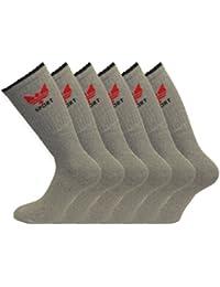 Klassische Strümpfe, Herren, 80 % Baumwolle, mit Kronen-Logo, Grau, erhältlich in den Größen 39-46,6Stück