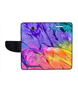 KolorEdge Printed Flip Cover For Alcatel One Touch Flash Multicolor - (1479-55KeMLogo12101AlcatelFlash)