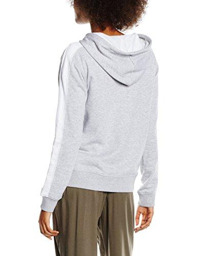 New Look Damen Kapuzenpullover Basic Zip Through Grau (Mid Grey)