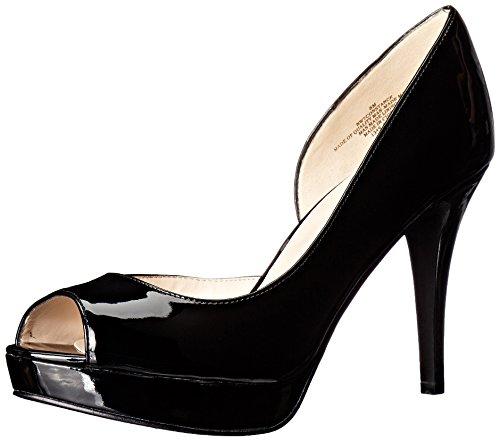 Nove Oeste Senhoras Constance Pio Sapato Toe Planalto Sintético Preto