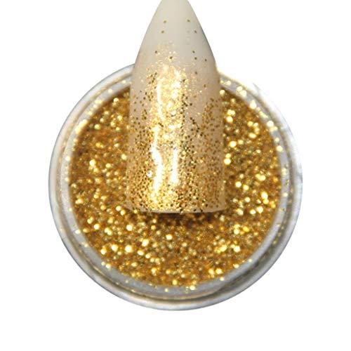 Glitzer-Staub, für Make-up und Nagelkunst, Schimmer Nagel Puder Chrom Pigment Nail Glitter Chamäleon Pulver Glänzende Art Tipps Sticker Acryl 3D Pailletten Maniküre DIY Extension - Glänzende Klinge Kostüm