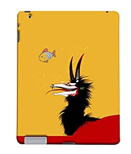 PrintVisa Fish Hunting 3D Hard Polycarbonate Designer Back Case Cover for Apple iPad 2 :: Apple iPad 3 :: Apple iPad 4