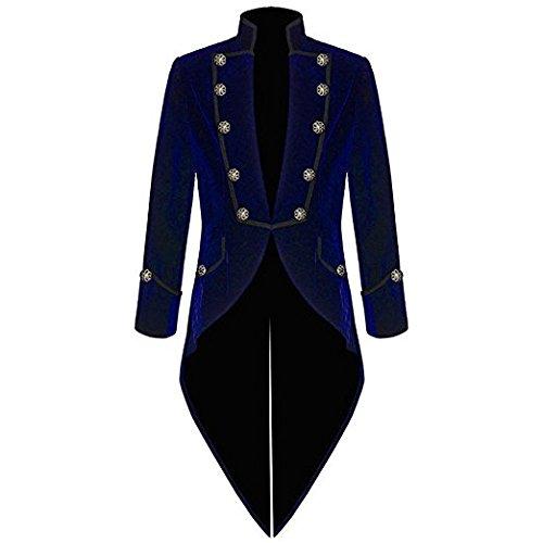 TPSAADE Nach Maß Art- und Weiseblauer Samt-Schwalben-angebundener Mantel-Männer Anzug-formale Partei-Abschlussball-Blazer-Mannklage 2017 Jacke + Hose - Kostüm Homme Marque