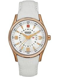 Swiss Military 06-6155.09.001 - Reloj de mujer de cuarzo, correa de piel color blanco