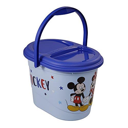 keeeper Disney Mickey und Minnie Maus Windeleimer mit Deckel und Tragegriff, 13 l, Karol, Blau