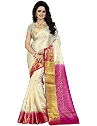 Nirja Creation Women'S Cotton Silk Saree With Blouse( Madhuri ) (Pink)